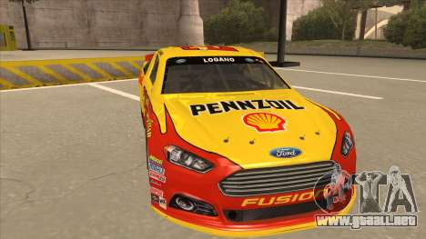 Ford Fusion NASCAR No. 22 Shell Pennzoil para GTA San Andreas left