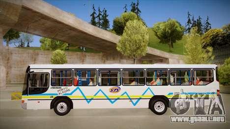 Marcopolo Viale para GTA San Andreas vista posterior izquierda
