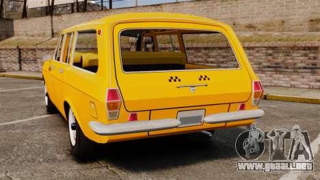 Taxi Volga GAZ-24-02 para GTA 4 Vista posterior izquierda