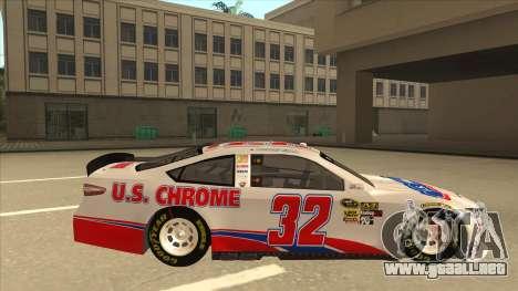 Ford Fusion NASCAR No. 32 U.S. Chrome para GTA San Andreas vista posterior izquierda