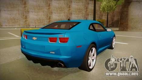 Chevrolet Camaro para GTA San Andreas vista hacia atrás