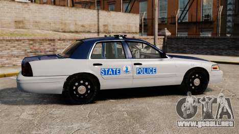 Ford Crown Victoria Virginia State Police [ELS] para GTA 4 left
