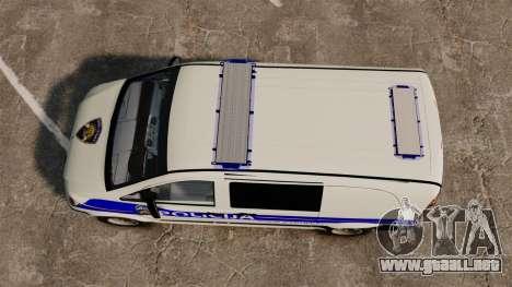 Mercedes-Benz Vito Croatian Police v2.0 [ELS] para GTA 4 visión correcta