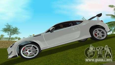 Subaru BRZ Type 4 para GTA Vice City vista lateral izquierdo