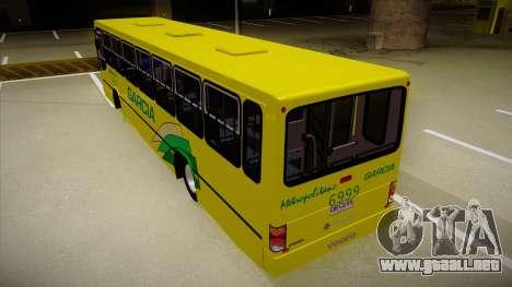 Busscar Urbanus SS Volvo B10 M garcia para GTA San Andreas vista hacia atrás