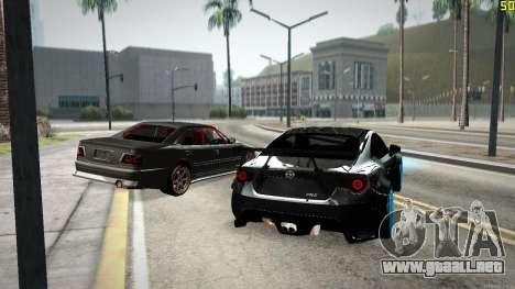 Toyota Chaser Tourer V para vista inferior GTA San Andreas