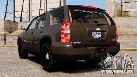 Chevrolet Tahoe Slicktop [ELS] v2 para GTA 4 Vista posterior izquierda