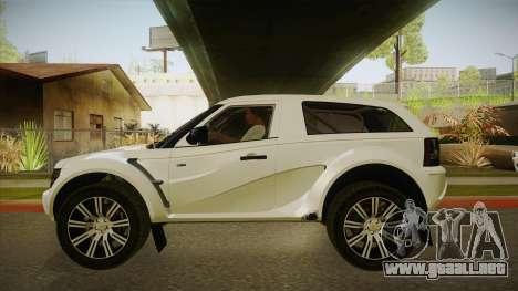 Bombín EXR S 2012 FIV & APT para GTA San Andreas vista posterior izquierda