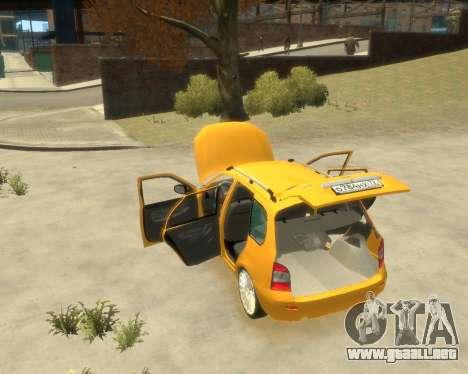 Lada Kalina Hatchback para GTA 4 visión correcta