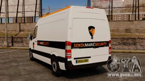 Mercedes-Benz Sprinter Sokol Maric Security para GTA 4 Vista posterior izquierda
