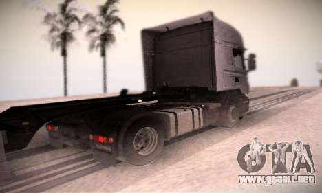 Scania R500 Topline para GTA San Andreas vista posterior izquierda