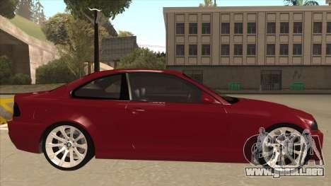 BMW M3 Tuned para GTA San Andreas vista posterior izquierda