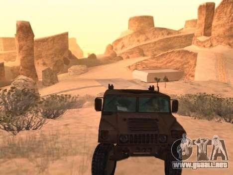 Hummer H1 del juego Resident Evil 5 para la visión correcta GTA San Andreas