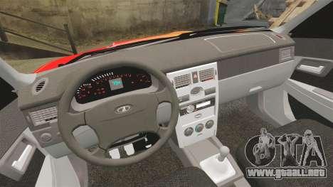 Lada Priora Cuba para GTA 4 vista superior