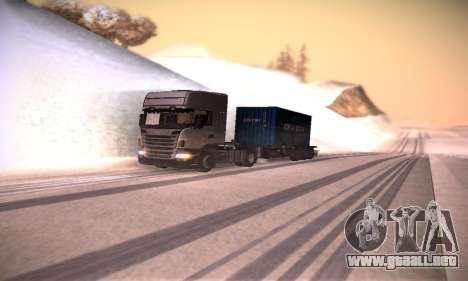 Scania R500 Topline para visión interna GTA San Andreas
