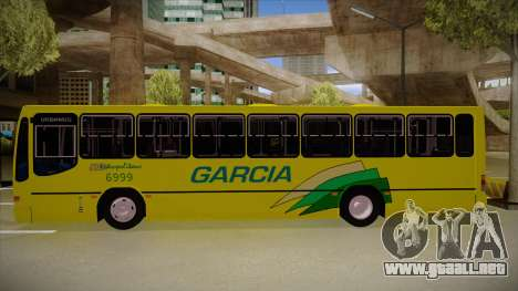 Busscar Urbanus SS Volvo B10 M garcia para GTA San Andreas vista posterior izquierda