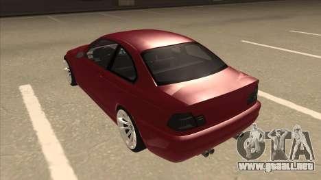 BMW M3 Tuned para GTA San Andreas vista hacia atrás