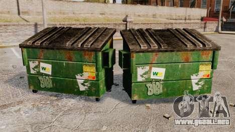 Contenedores de basura, Waste Management Inc. para GTA 4 segundos de pantalla