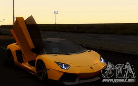 Lamborghini Aventador LP700-4 Vossen V2.0 Final para GTA San Andreas vista posterior izquierda