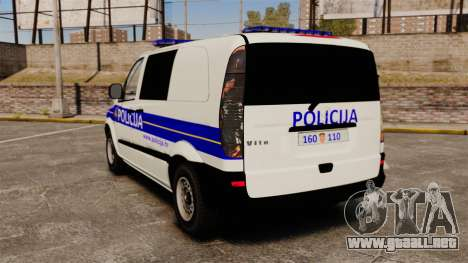 Mercedes-Benz Vito Croatian Police v2.0 [ELS] para GTA 4 Vista posterior izquierda