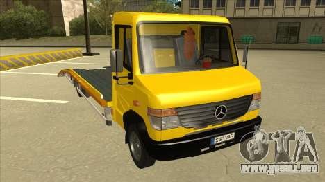 Mercedes-Benz Vario Towtruck para GTA San Andreas left