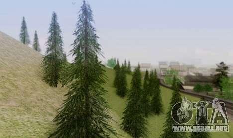 Nueva vegetación 2013 para GTA San Andreas quinta pantalla