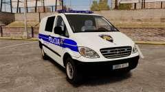 Mercedes-Benz Vito Croatian Police v2.0 [ELS] para GTA 4