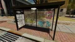 Nueva publicidad en paradas de autobús para GTA 4