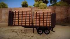 Camión semirremolque madera para MB 2644 trem frente para GTA San Andreas