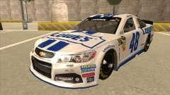 Chevrolet SS NASCAR No. 48 Lowes white