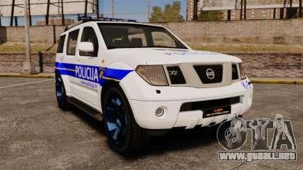 Nissan Pathfinder Croatian Police [ELS] para GTA 4
