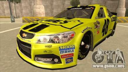 Chevrolet SS NASCAR No. 48 Lowes yellow para GTA San Andreas