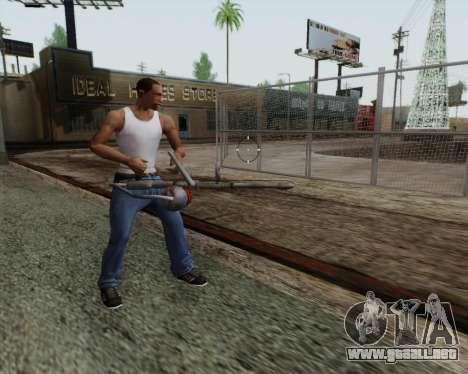 Nuevo lanzallamas para GTA San Andreas sucesivamente de pantalla