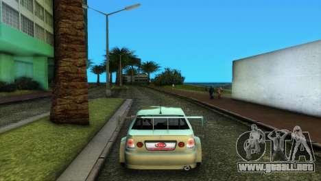 Lexus IS200 para GTA Vice City vista posterior