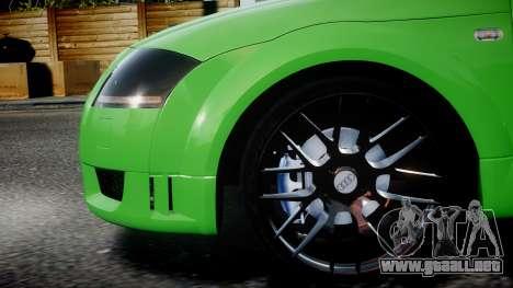 Audi TT Coupe 3.2 Quattro 2004 para GTA 4 left