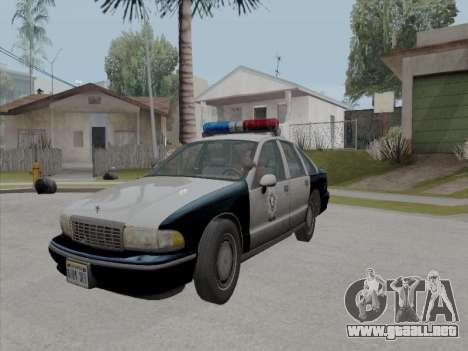 Chevrolet Caprice LVPD 1991 para visión interna GTA San Andreas