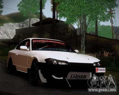 Nissan Silvia S15 JDM para GTA San Andreas vista posterior izquierda
