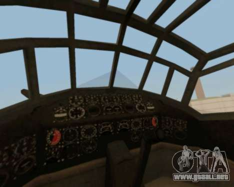 Junkers Ju-52 para vista lateral GTA San Andreas