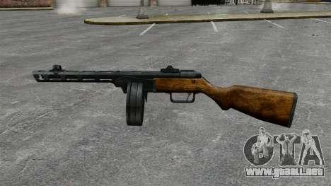 Špagina subfusil ametrallador, 1941 para GTA 4 tercera pantalla