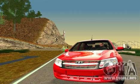 VAZ Grant 2190 Stock para GTA San Andreas vista posterior izquierda