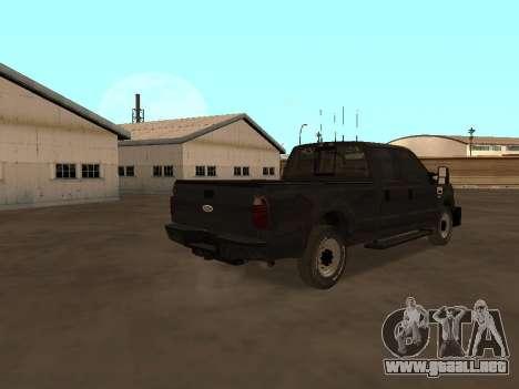 Ford F-350 ATTF para la visión correcta GTA San Andreas