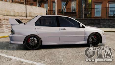 Mitsubitsi Lancer MR Evolution VIII 2004 Stock para GTA 4 left