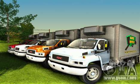 GMC Top Kick C4500 Dryvan House Movers 2008 para la vista superior GTA San Andreas