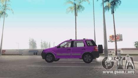 Ford EcoSport V2 para GTA San Andreas vista posterior izquierda