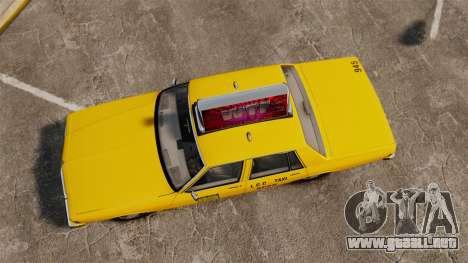 Chevrolet Caprice 1987 L.C.C. Taxi para GTA 4 visión correcta