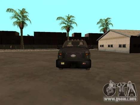 Ford F-350 ATTF para visión interna GTA San Andreas