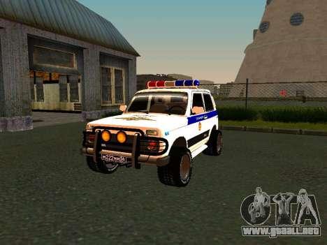VAZ 212140 policía para vista lateral GTA San Andreas