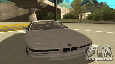BMW 850CSi 1996 Stock version para GTA San Andreas left