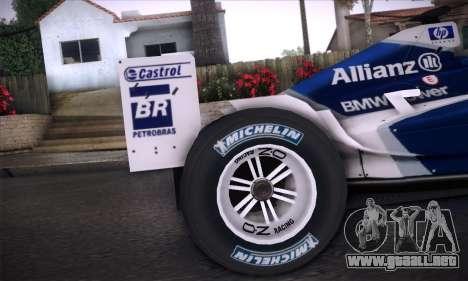 BMW Williams F1 para visión interna GTA San Andreas