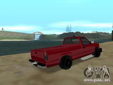 Chevrolet Silverado ATTF para GTA San Andreas vista posterior izquierda